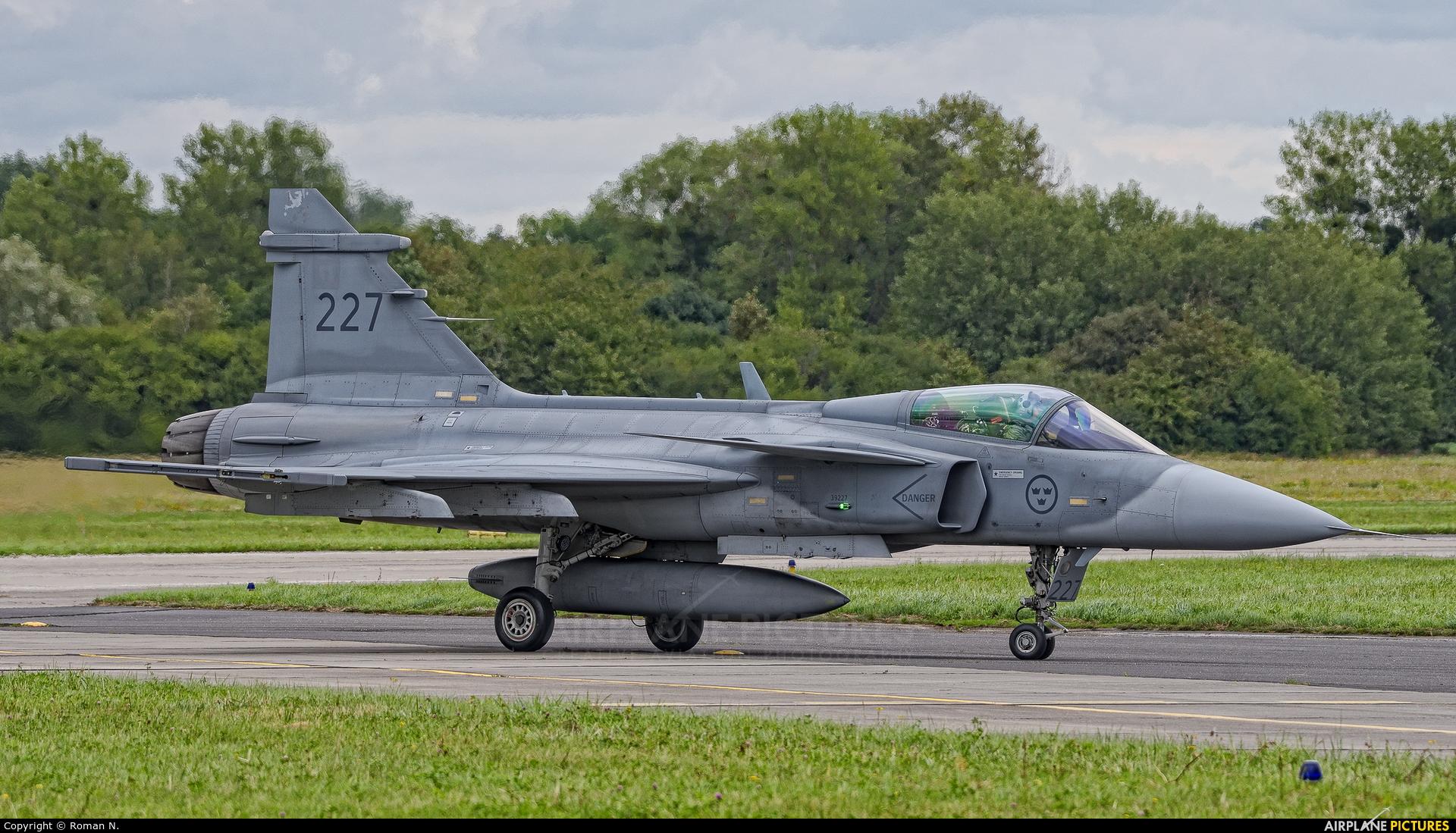 Sweden - Air Force 39227 aircraft at Gdynia- Babie Doły (Oksywie)