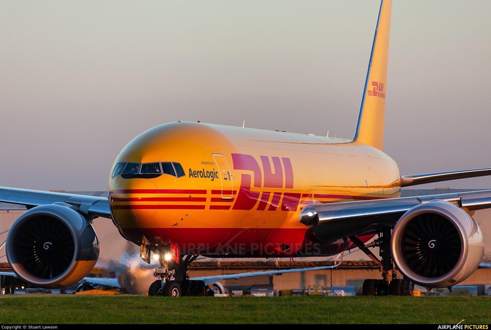 DHL (Aerologic) D-AALL aircraft at East Midlands