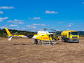 """Sky Helicopteros Airbus Helicopters H125 EC-MLQ at Campo de vuelo """"As Lamas"""" airport"""
