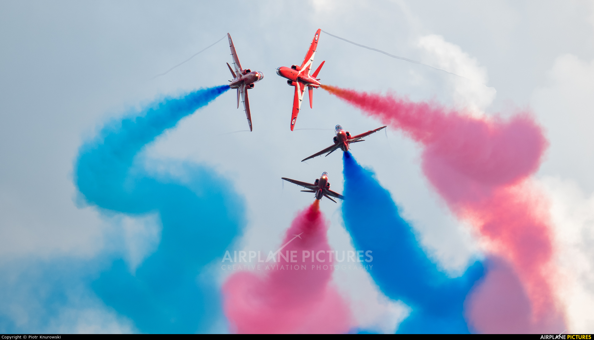 "Royal Air Force ""Red Arrows"" XX325 aircraft at Leopoldsburg - Beverlo"