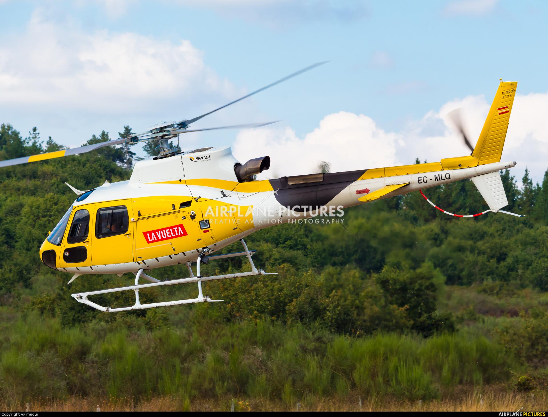 """Sky Helicopteros EC-MLQ aircraft at Campo de vuelo """"As Lamas"""""""