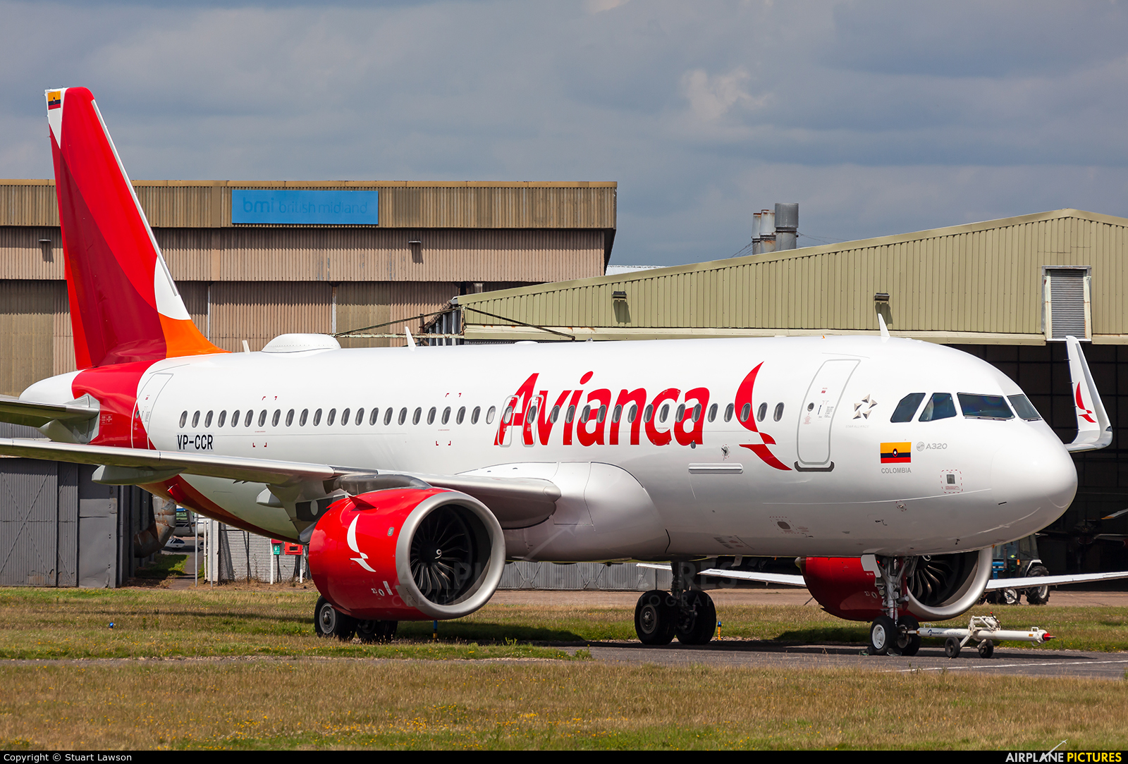 Avianca VP-CCR aircraft at East Midlands