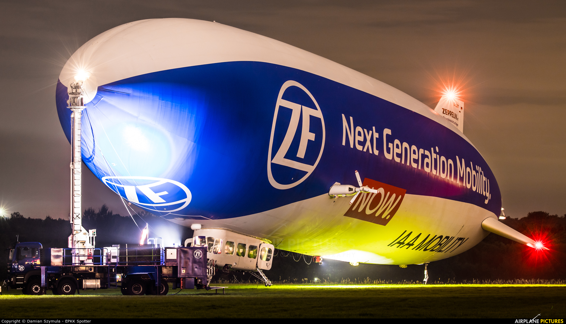 Airship Ventures D-LZNT aircraft at Katowice Muchowiec