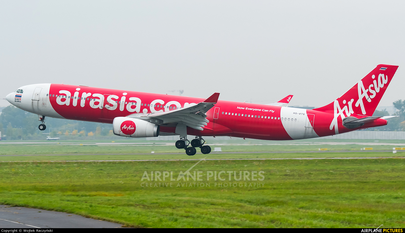 AirAsia (Thailand) HS-XTG aircraft at Warsaw - Frederic Chopin