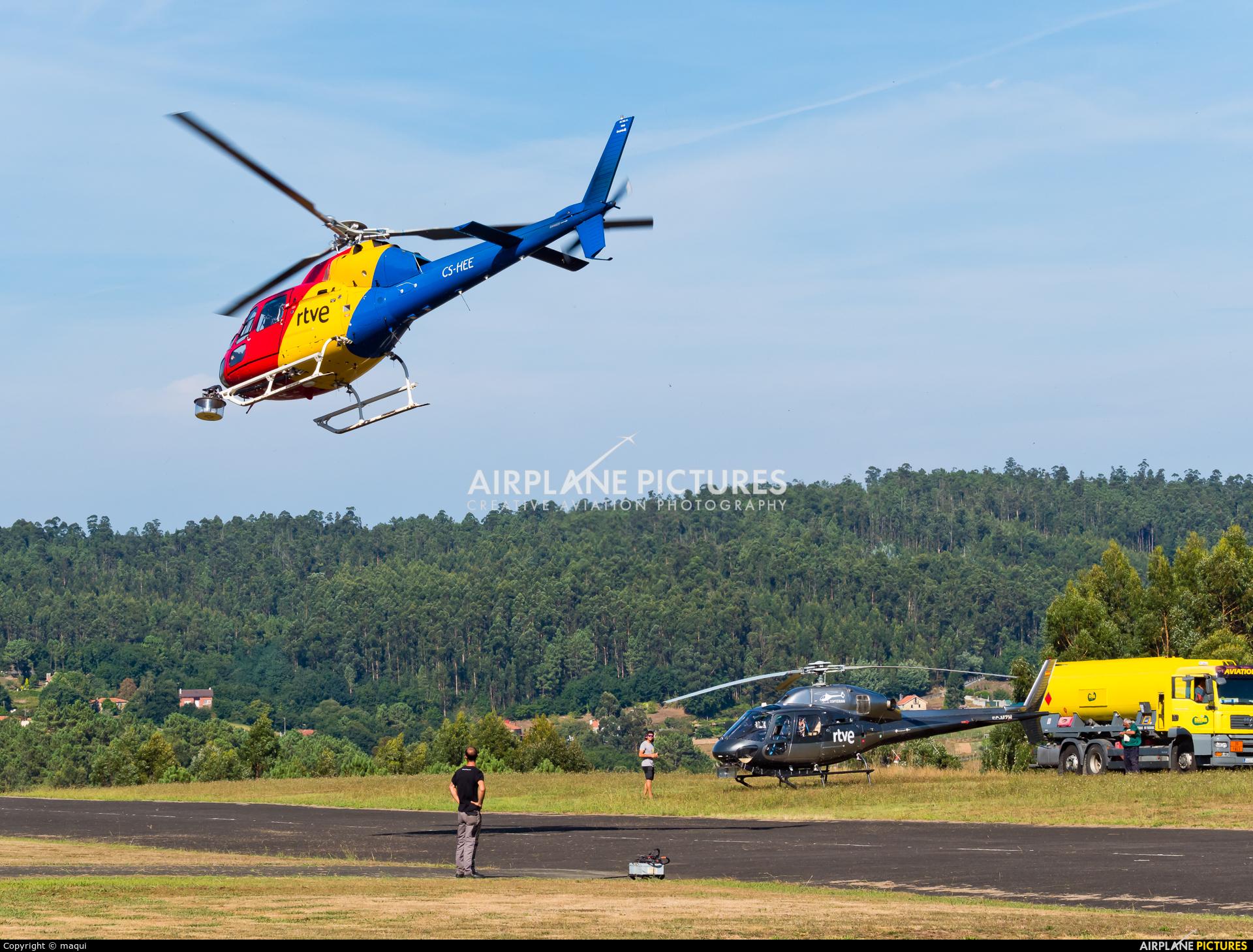 HTA Helicopters CS-HEE aircraft at La Coruña - Off Airport