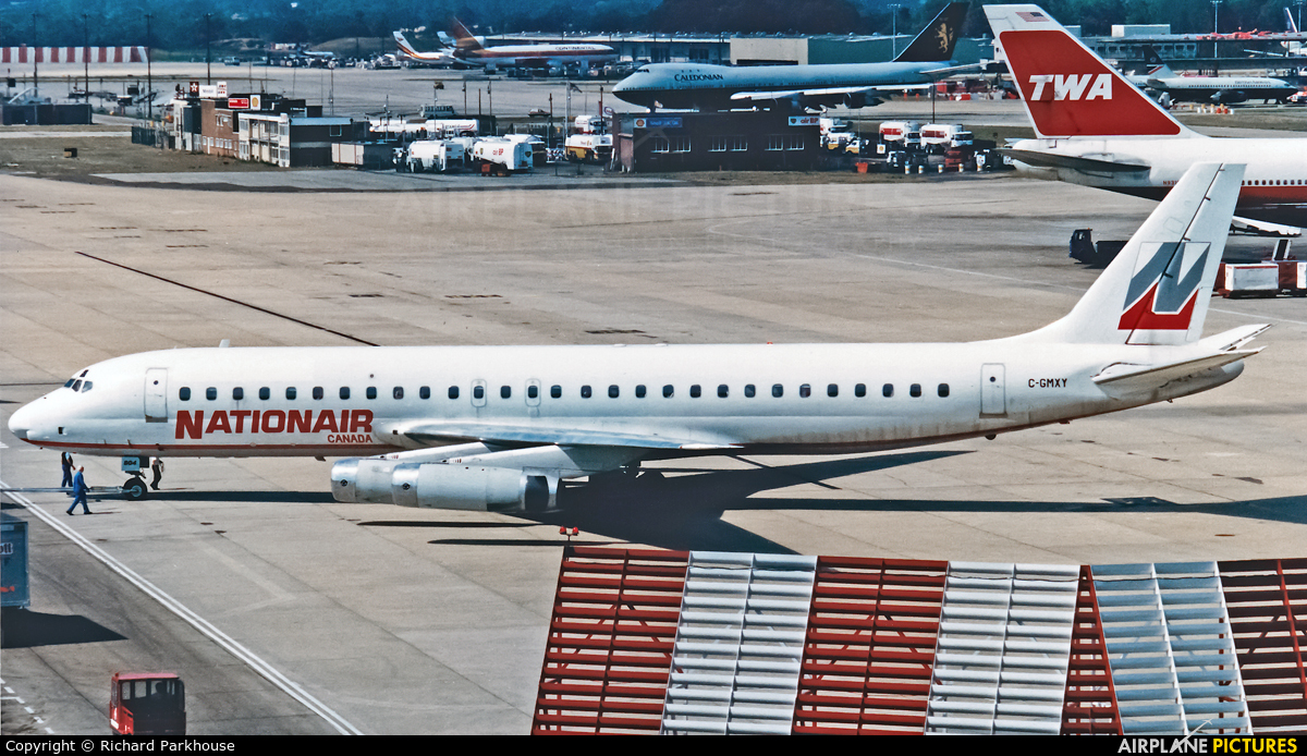 Nationair C-GMXY aircraft at London - Gatwick
