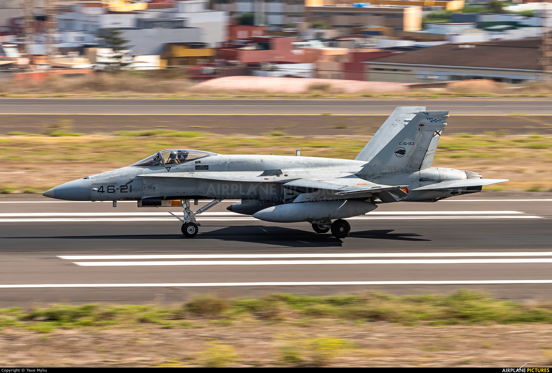 Spain - Air Force C.15-93 aircraft at Tenerife Norte - Los Rodeos