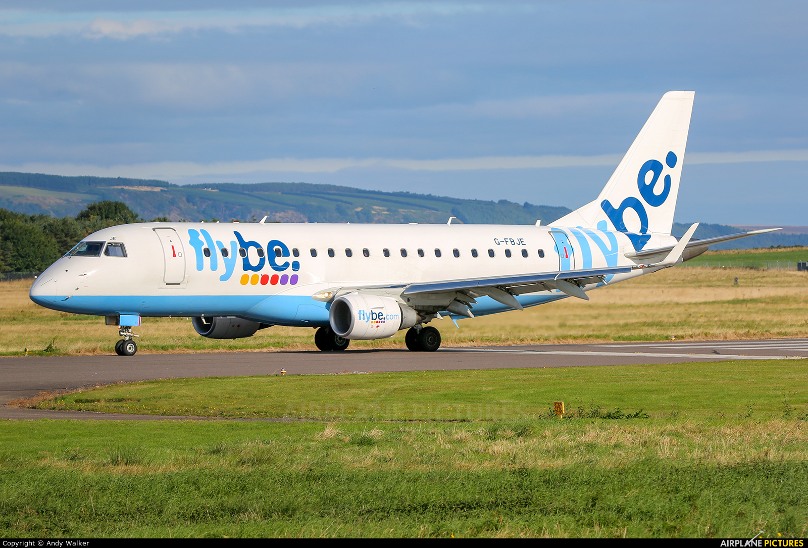 Flybe G-FBJE aircraft at Inverness