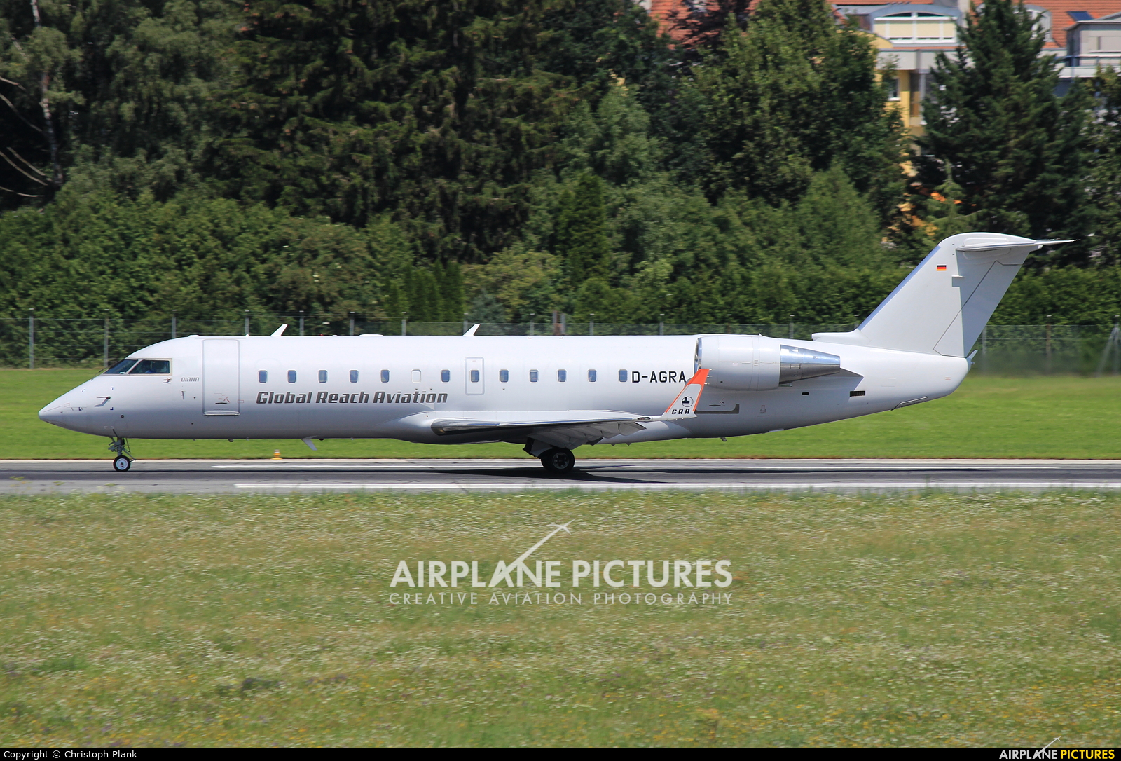 Global Reach Aviation D-AGRA aircraft at Innsbruck