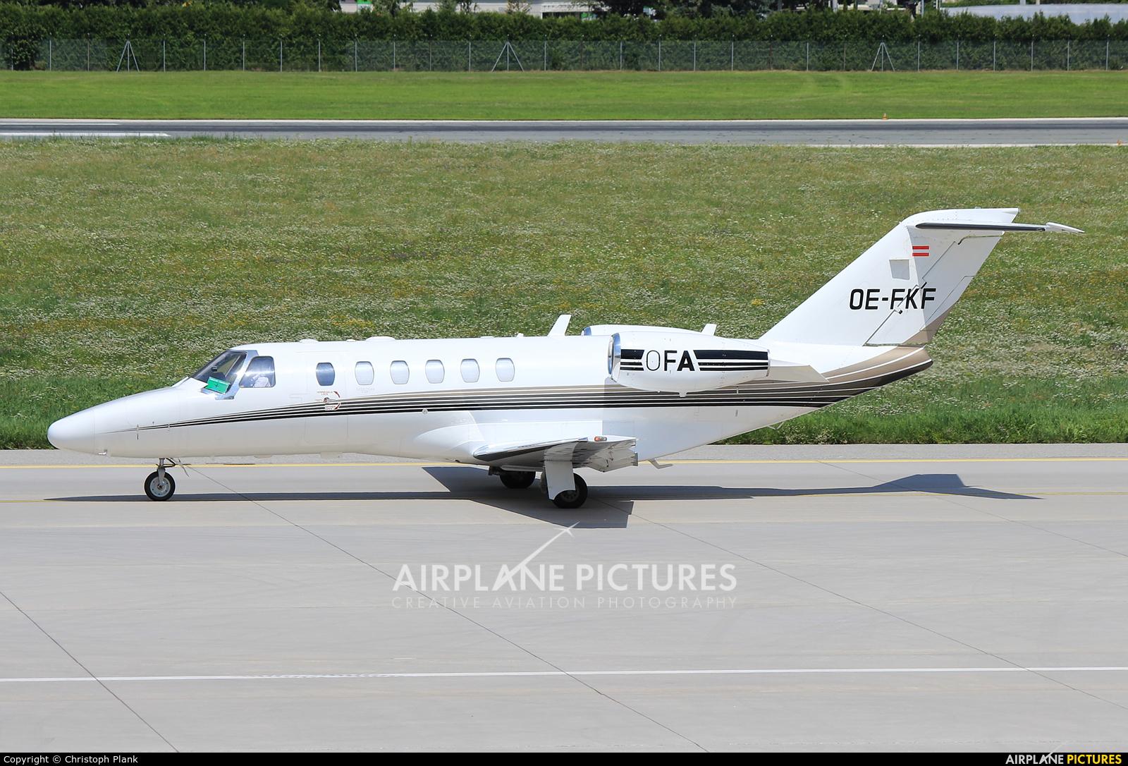 FlyTyrol OE-FKF aircraft at Innsbruck
