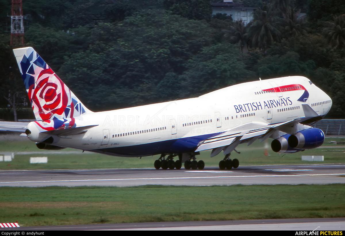 British Airways G-BNLL aircraft at Singapore - Changi