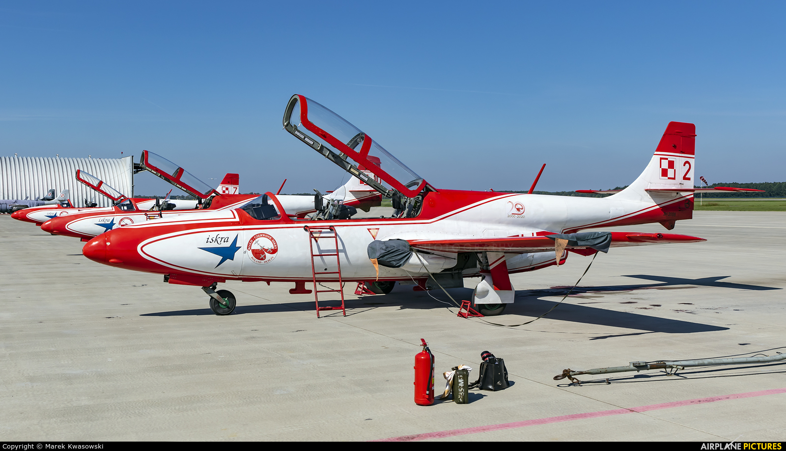 Poland - Air Force: White & Red Iskras 2 aircraft at Dęblin - Museum of Polish Air Force