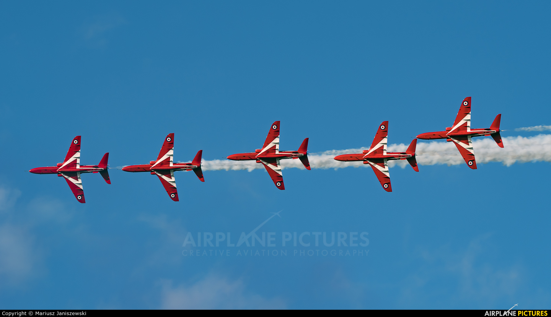 "Royal Air Force ""Red Arrows"" XX278 aircraft at Gdynia- Babie Doły (Oksywie)"