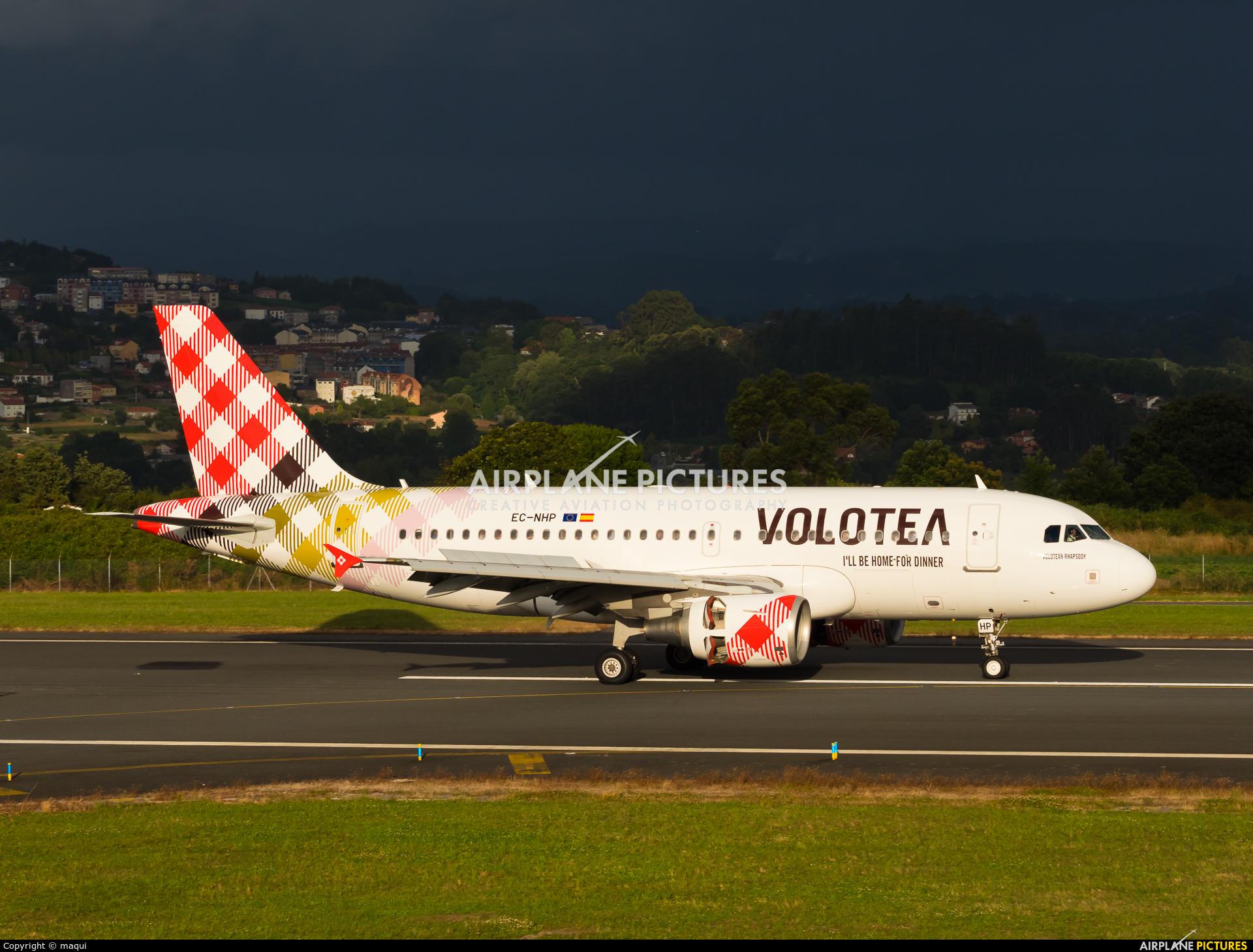 Volotea Airlines EC-NHP aircraft at La Coruña