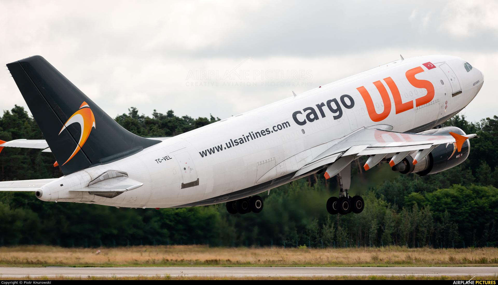 ULS Cargo TC-VEL aircraft at Frankfurt