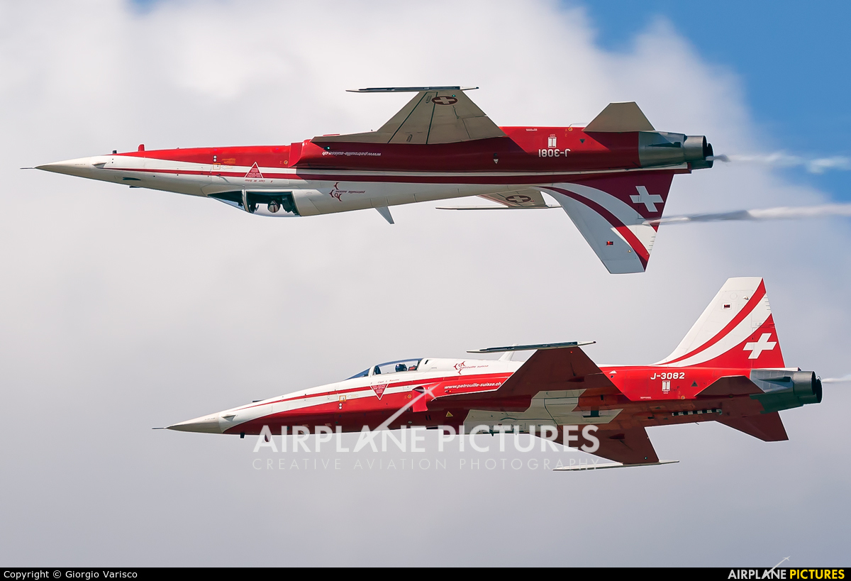 Switzerland - Air Force: Patrouille Suisse J-3082 aircraft at Rivolto