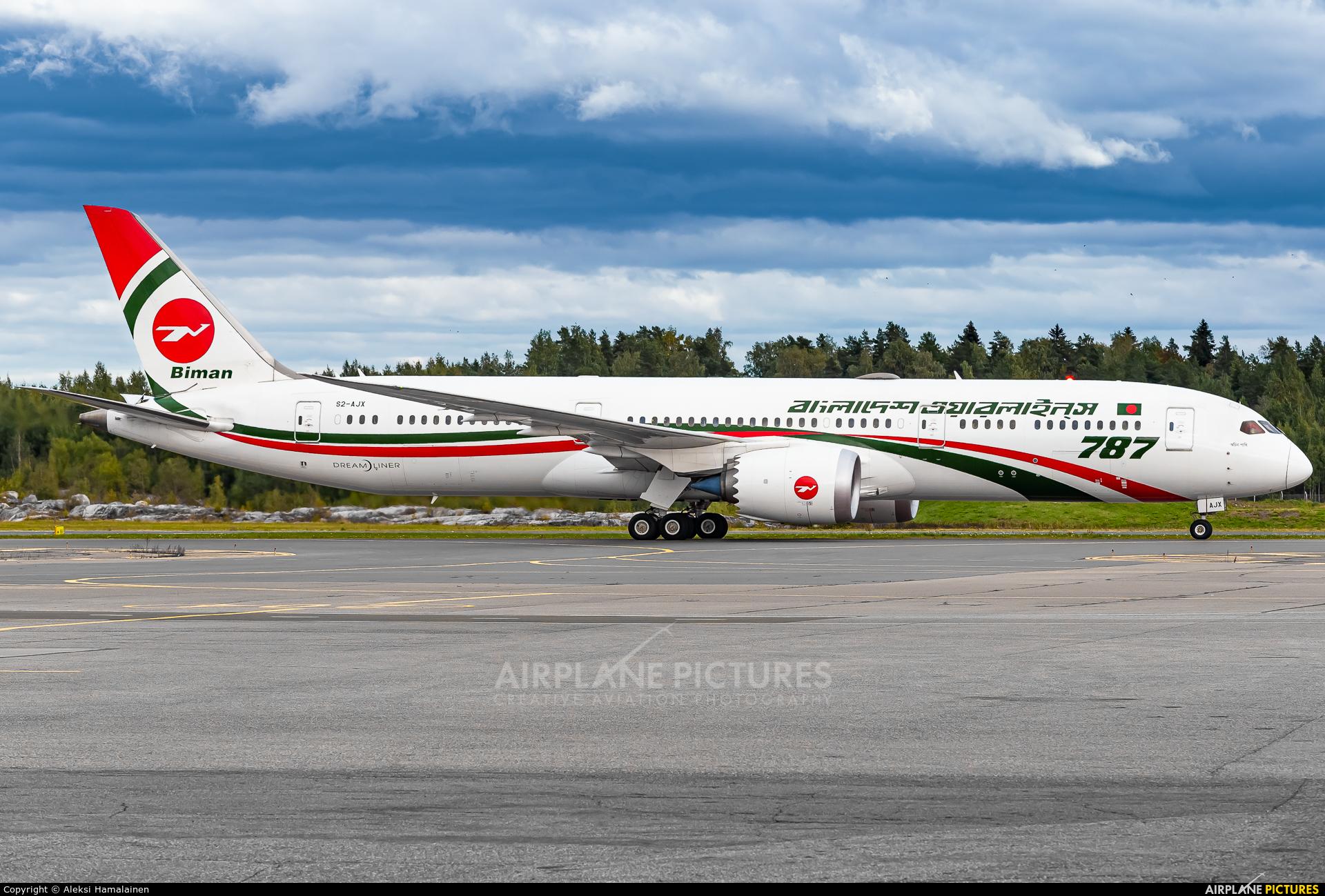 Biman Bangladesh S2-AJX aircraft at Helsinki - Vantaa