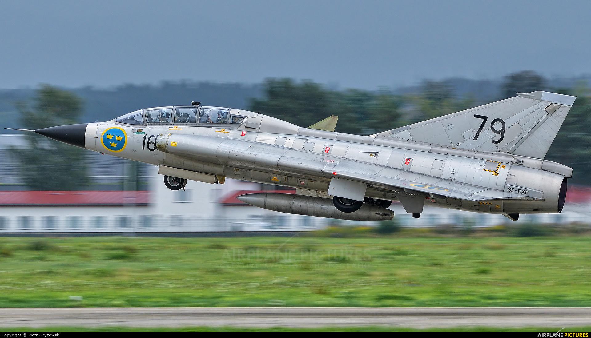 Swedish Air Force Historic Flight SE-DXP aircraft at Ostrava Mošnov