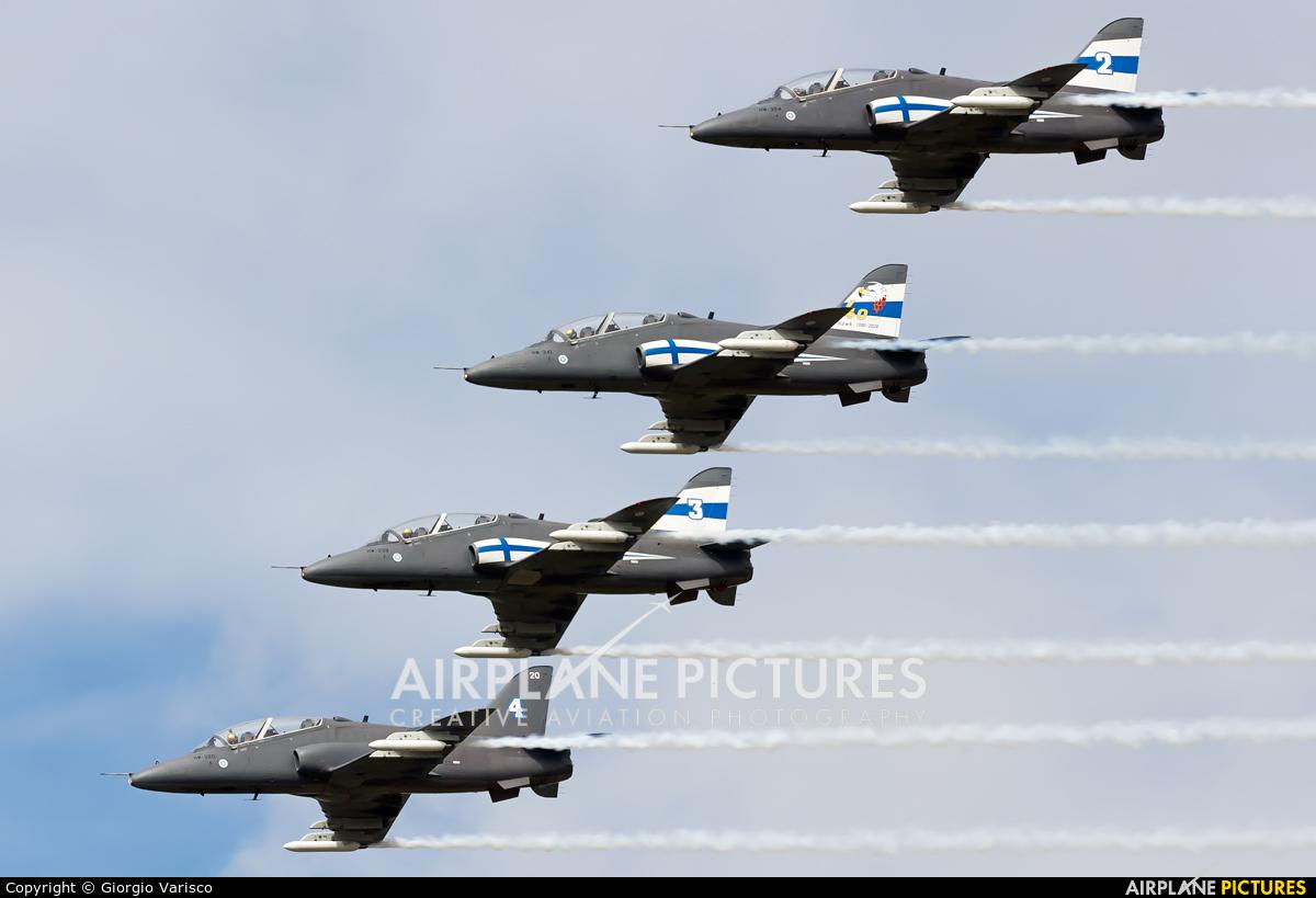 Finland - Air Force: Midnight Hawks HW-341 aircraft at Rivolto