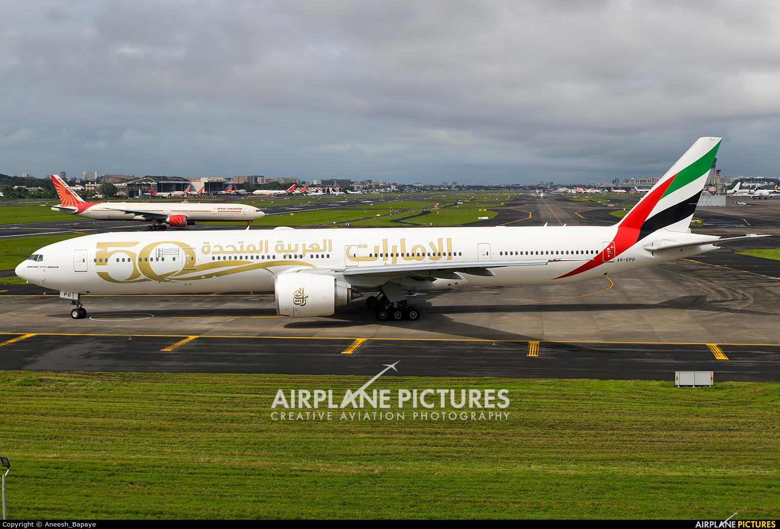 Emirates Airlines A6-EPO aircraft at Mumbai - Chhatrapati Shivaji Intl