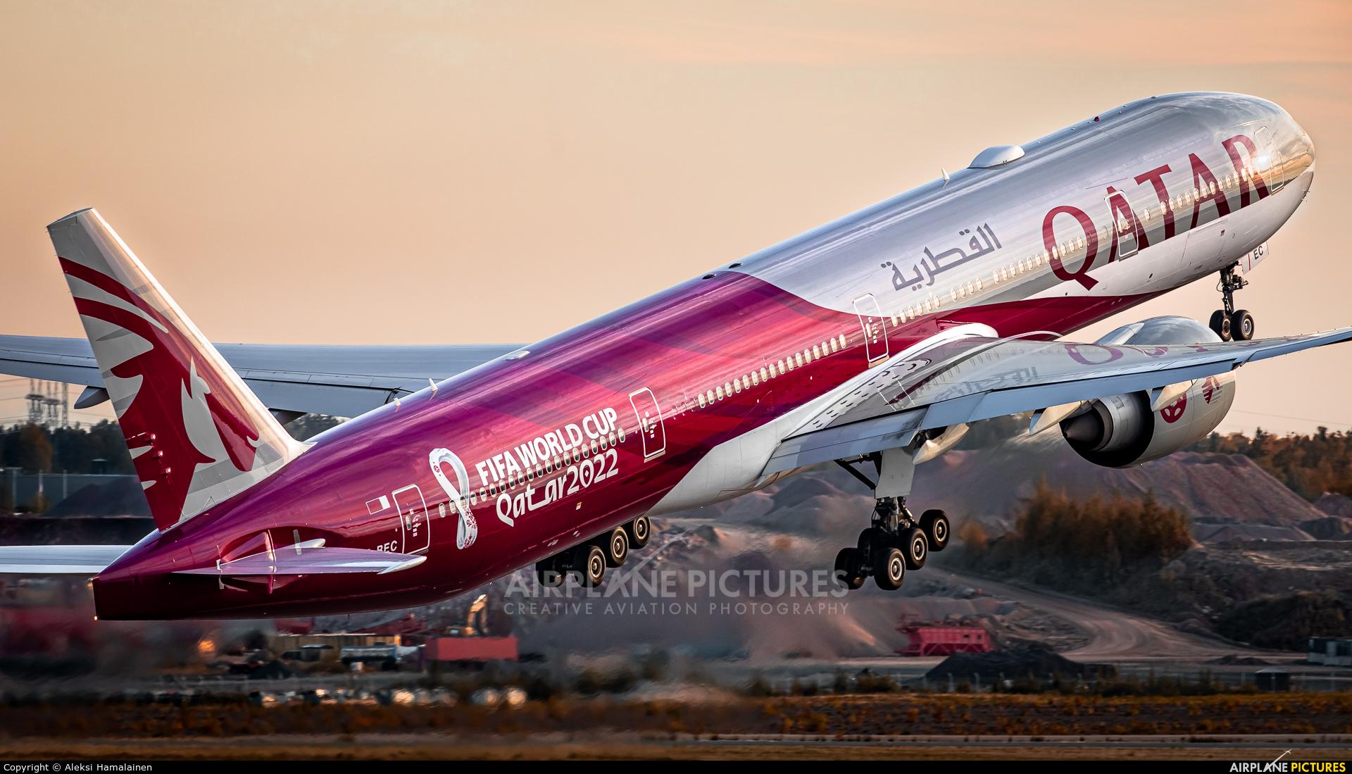 Qatar Airways A7-BEC aircraft at Helsinki - Vantaa