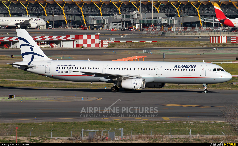 Aegean Airlines SX-DGT aircraft at Madrid - Barajas