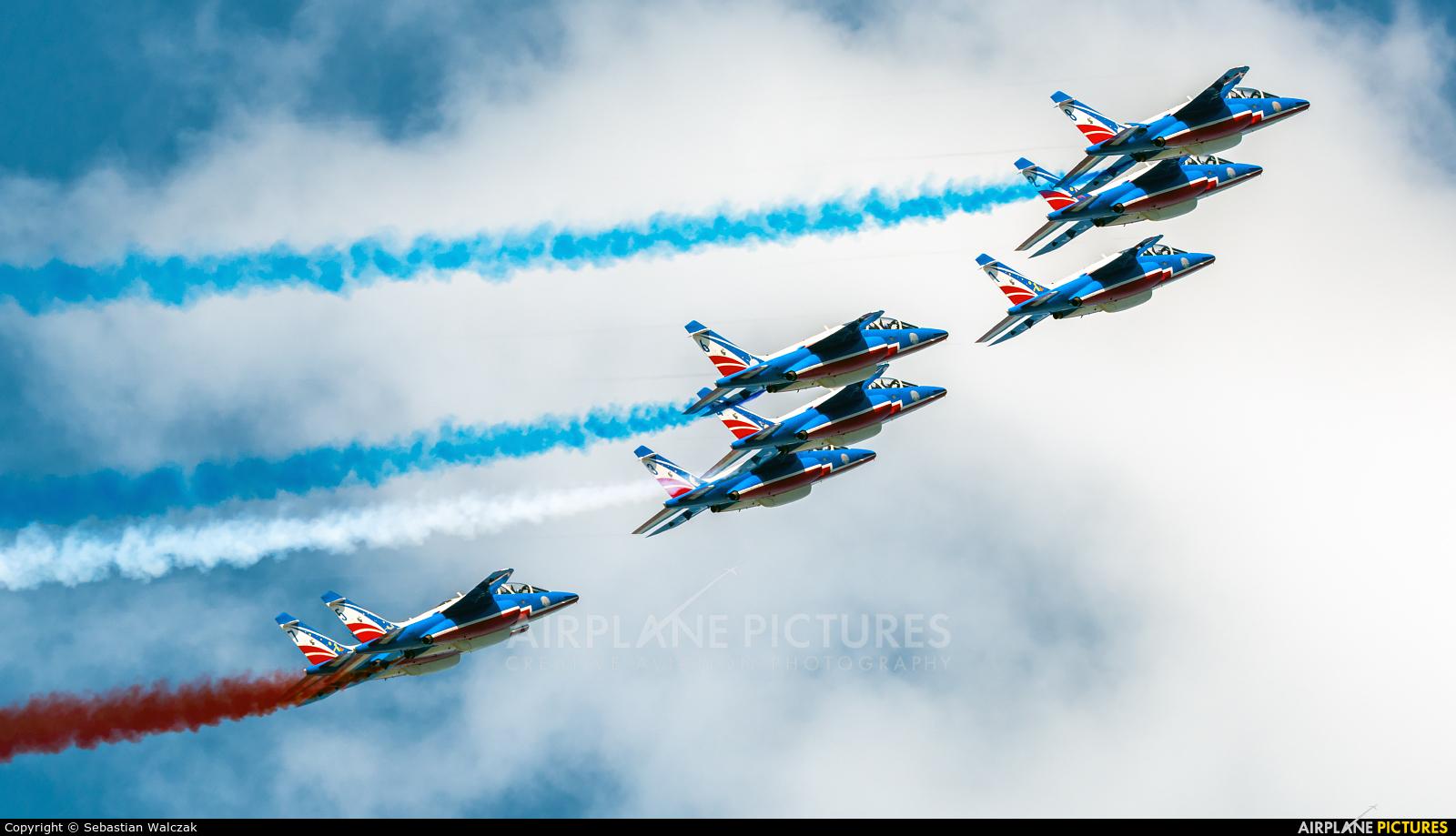 """France - Air Force """"Patrouille de France"""" E44 aircraft at Luxeuil-Saint-Sauveur AB"""