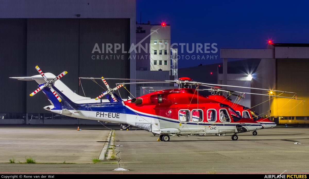 CHC Netherlands PH-EUE aircraft at Amsterdam - Schiphol
