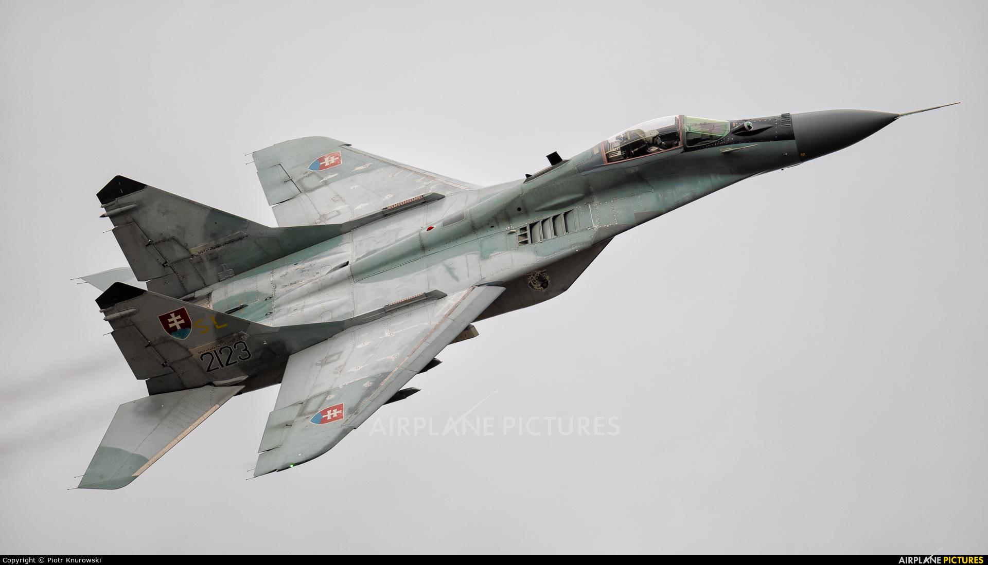 Slovakia -  Air Force 2123 aircraft at Ostrava Mošnov