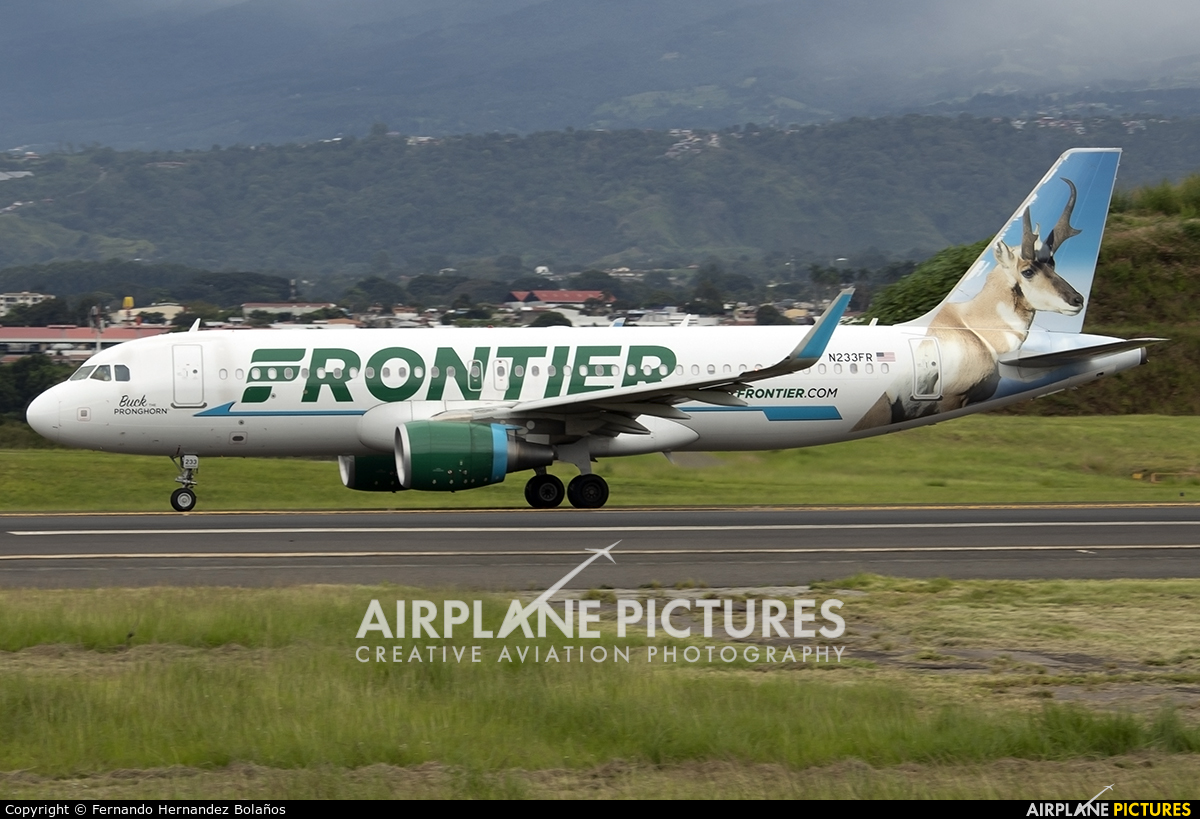 Frontier Airlines N233FR aircraft at San Jose - Juan Santamaría Intl