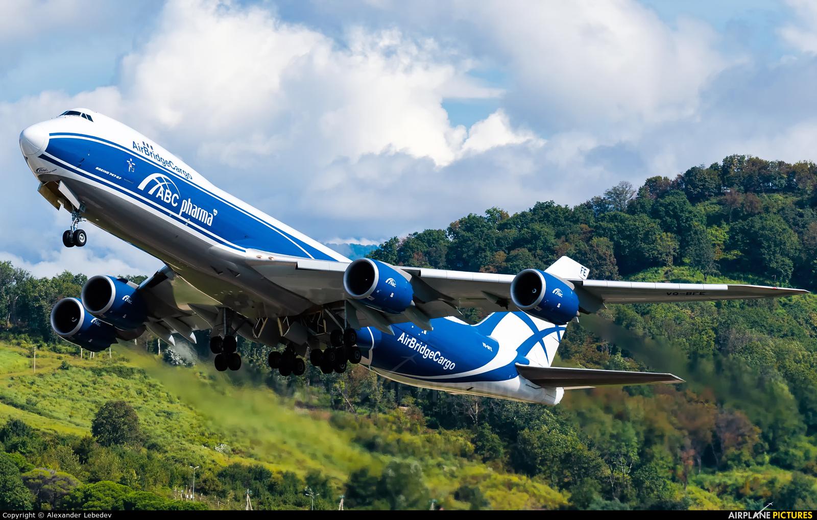 Air Bridge Cargo VQ-BFE aircraft at Sochi Intl