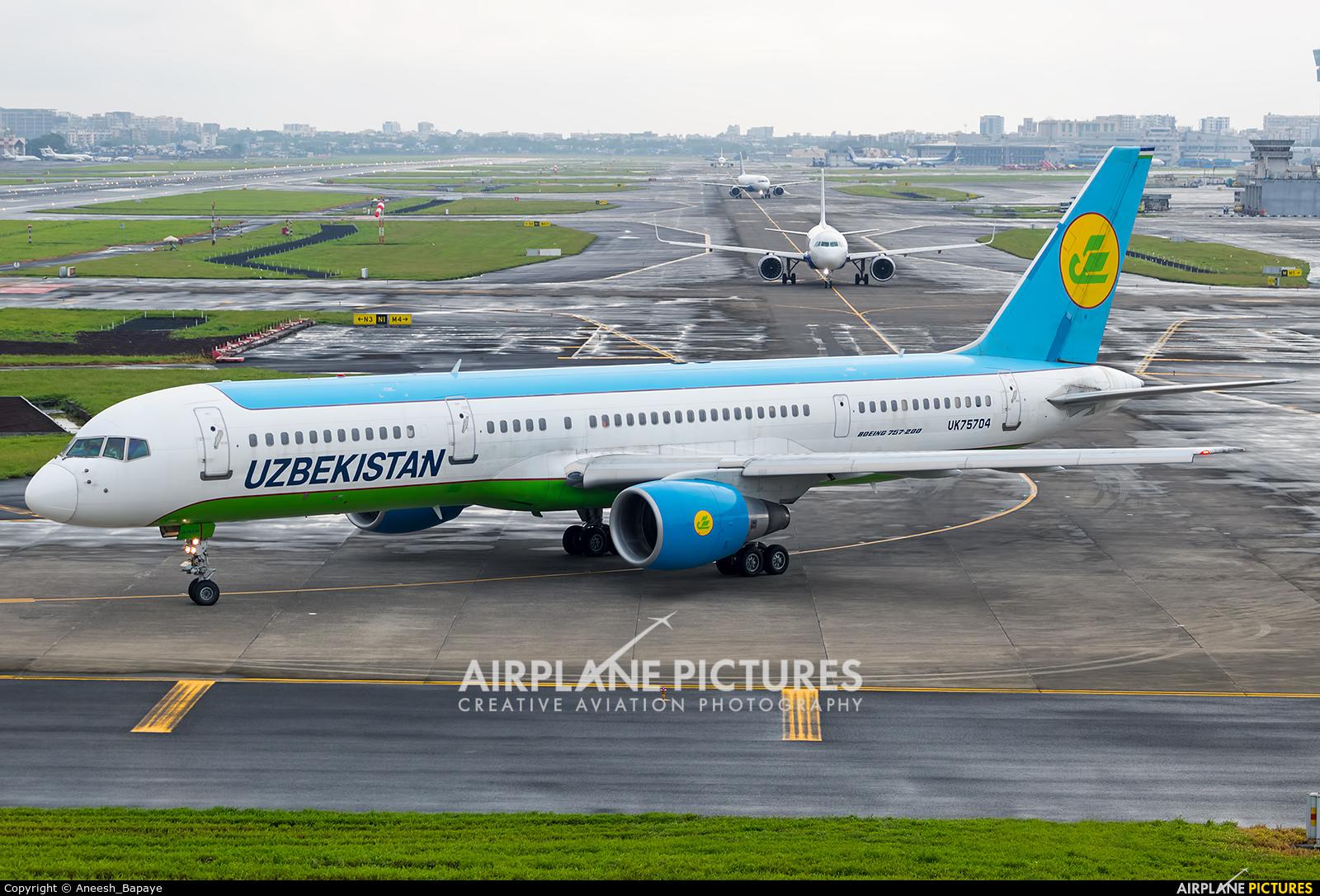 Uzbekistan Airways UK75704 aircraft at Mumbai - Chhatrapati Shivaji Intl