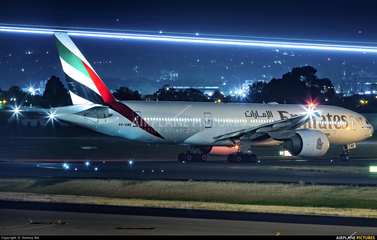 Emirates Airlines A6-EWD aircraft at Adelaide Intl, SA