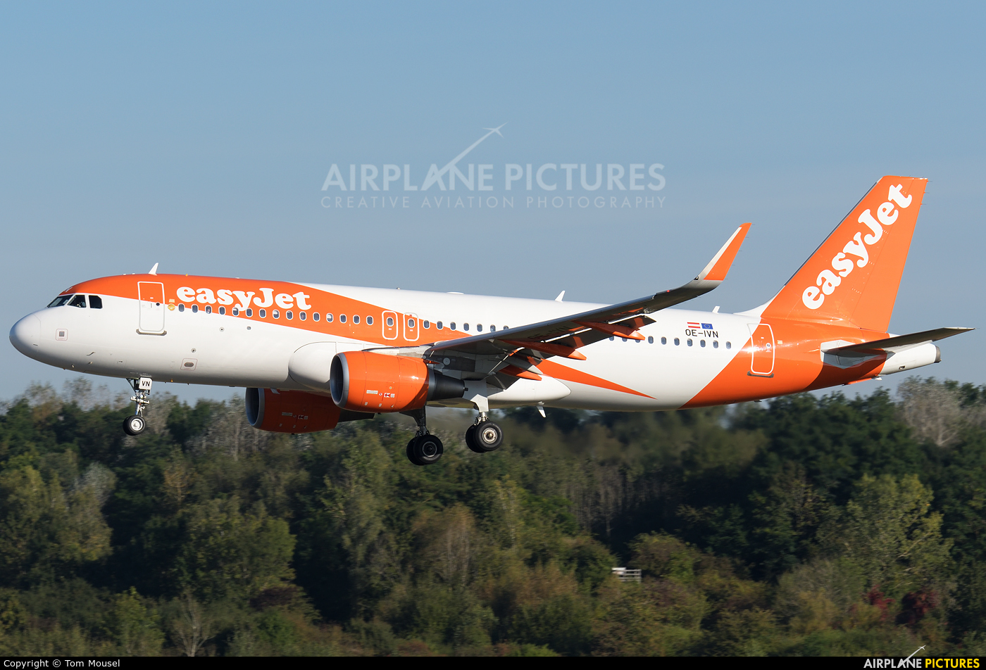 easyJet Europe OE-IVN aircraft at Luxembourg - Findel