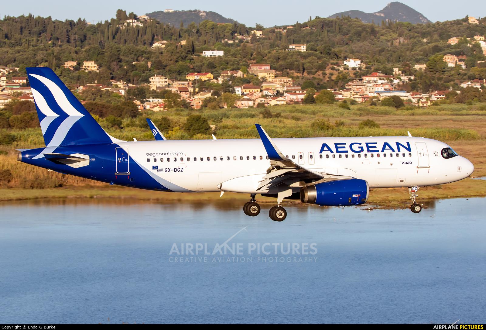 Aegean Airlines SX-DGZ aircraft at Corfu - Ioannis Kapodistrias