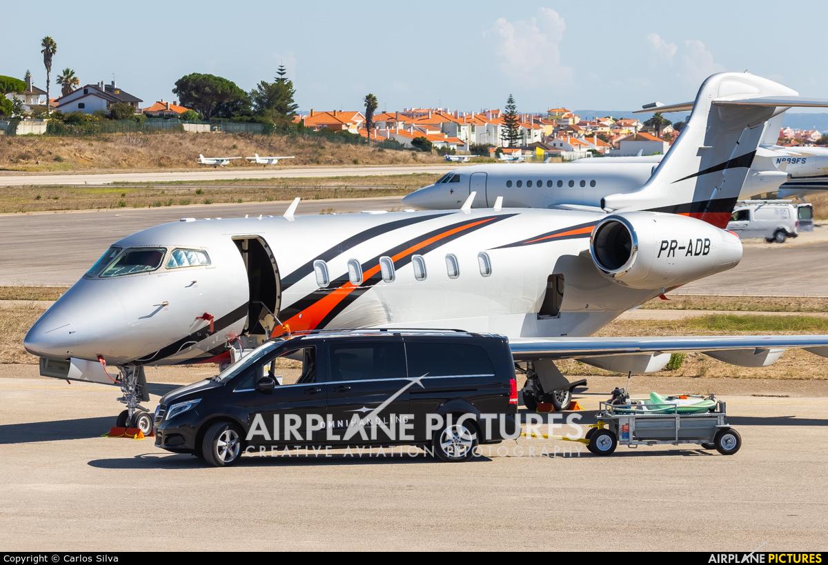 Private PR-ADB aircraft at Cascais