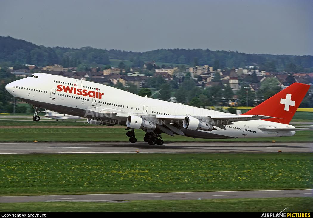 Swissair HB-IGD aircraft at Zurich