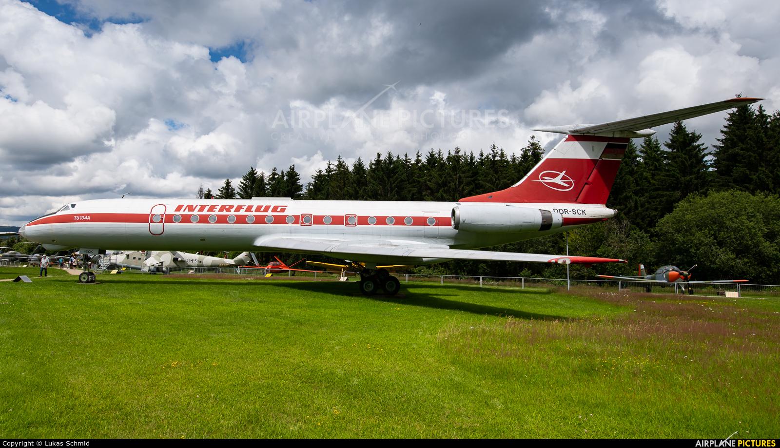 Interflug DDR-SCK aircraft at Hermeskeil