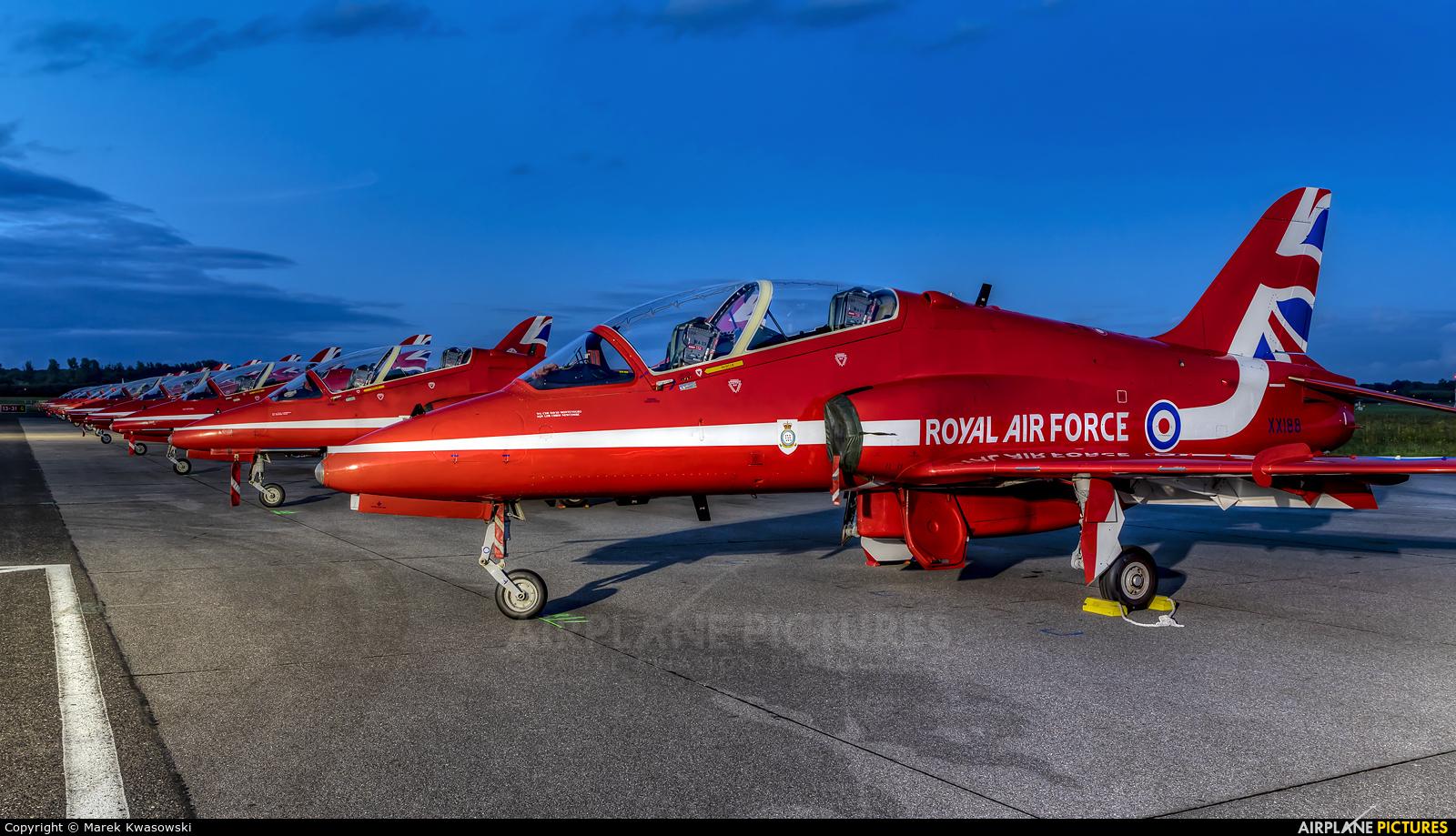 "Royal Air Force ""Red Arrows"" XX188 aircraft at Gdynia- Babie Doły (Oksywie)"