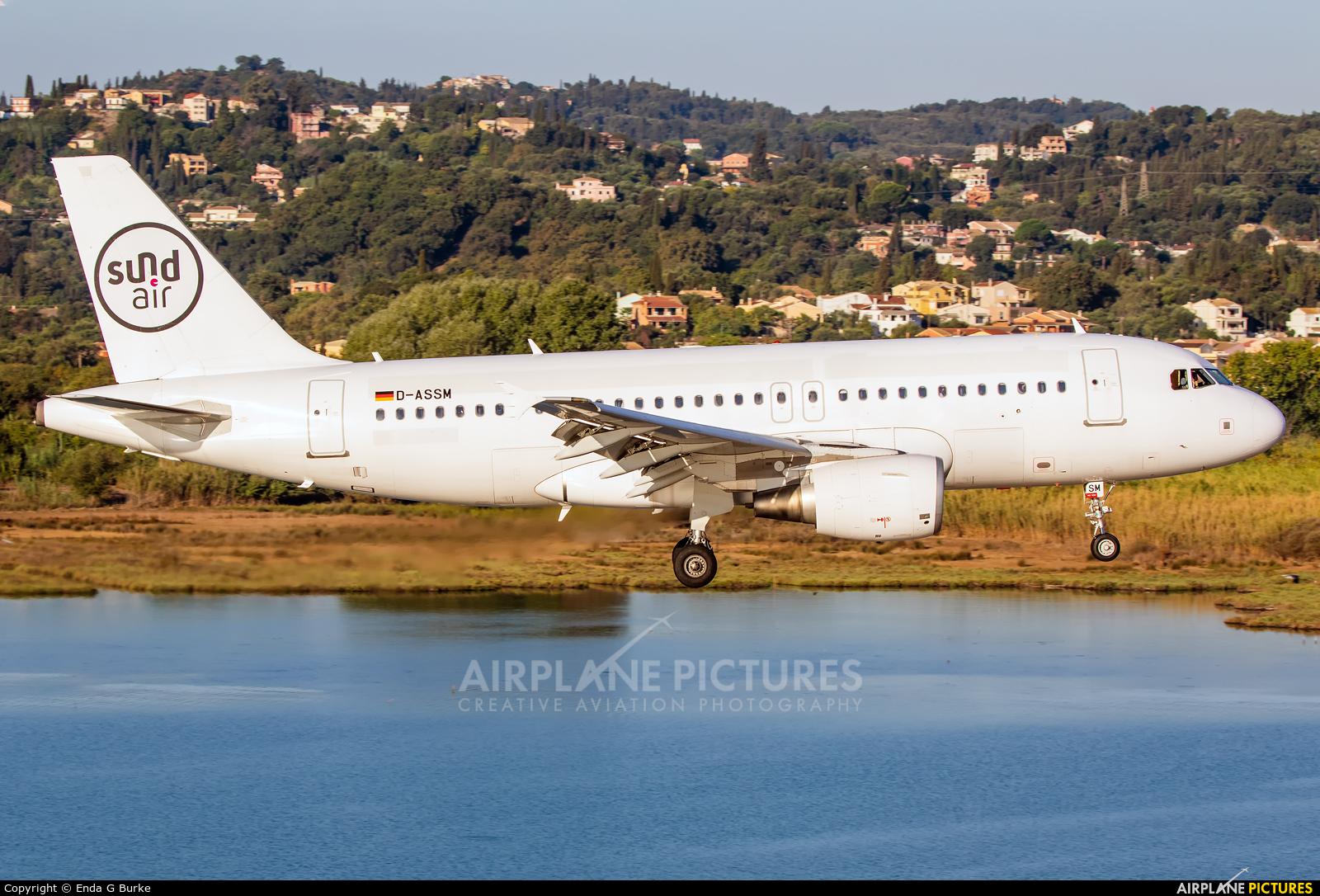 Sundair D-ASSM aircraft at Corfu - Ioannis Kapodistrias