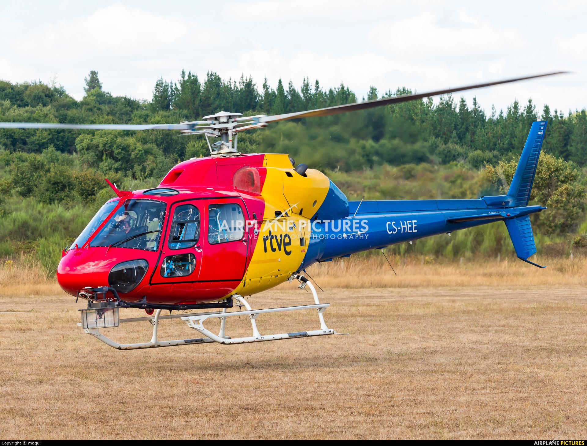 """HTA Helicopters CS-HEE aircraft at Campo de vuelo """"As Lamas"""""""