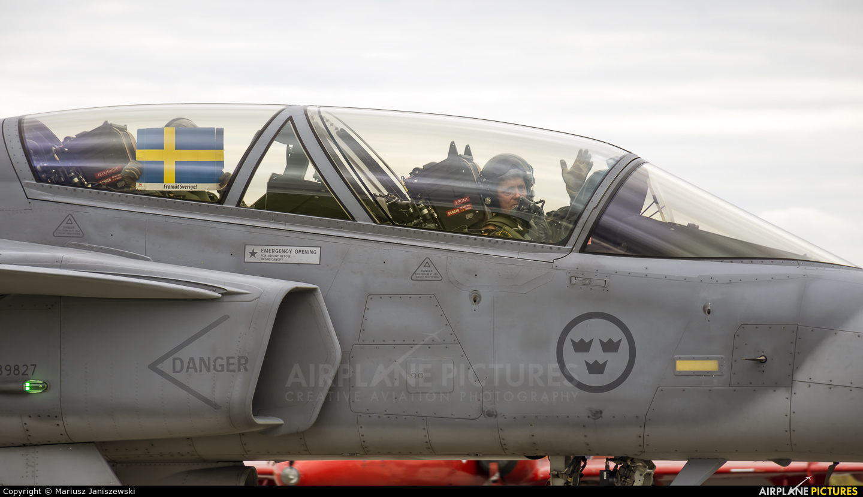 Sweden - Air Force 827 aircraft at Gdynia- Babie Doły (Oksywie)