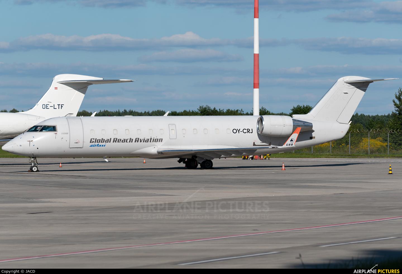 Global Reach Aviation OY-CRJ aircraft at Katowice - Pyrzowice