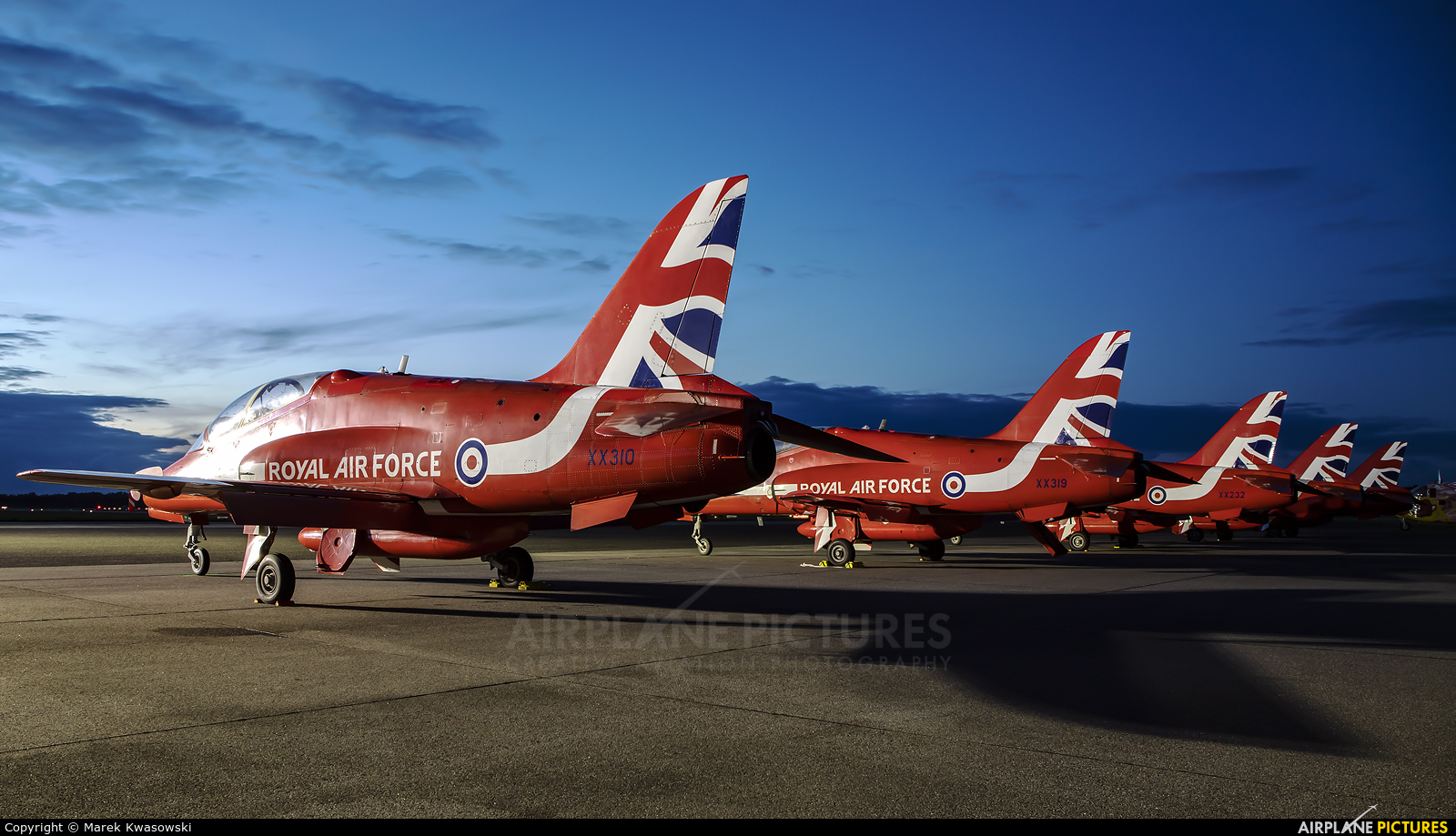 "Royal Air Force ""Red Arrows"" XX310 aircraft at Gdynia- Babie Doły (Oksywie)"