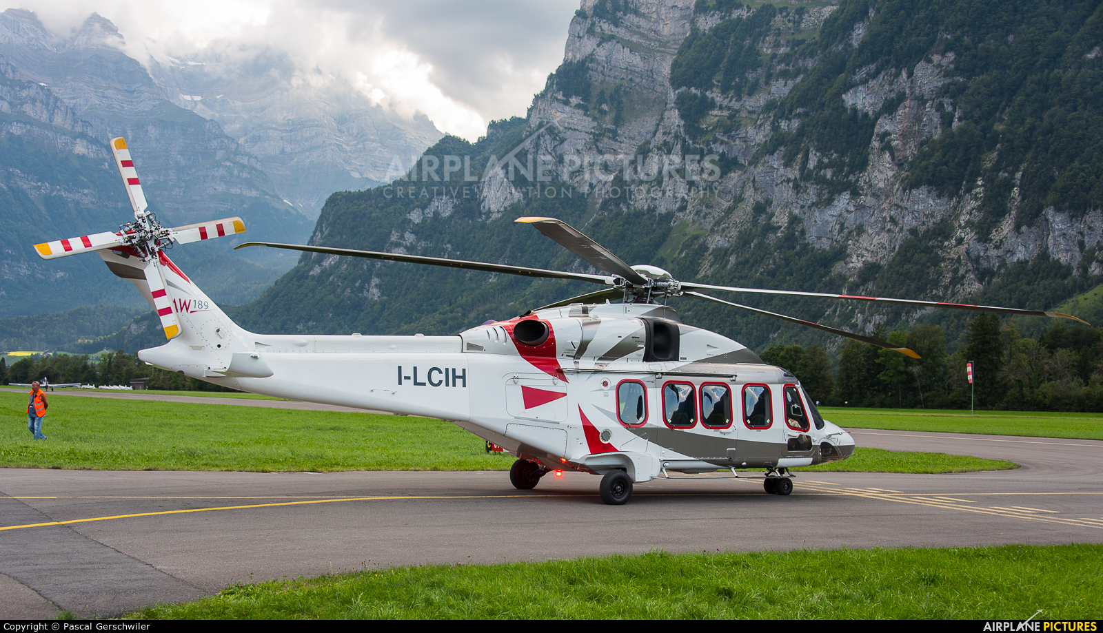Leonardo I-LCIH aircraft at Mollis