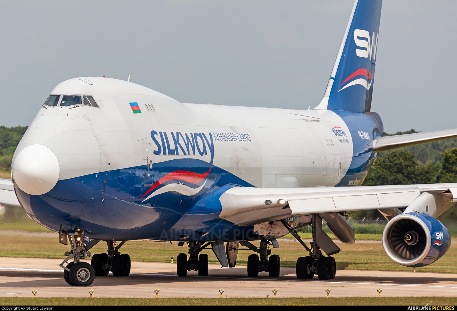 Silk Way West Airlines 4K-SW800 aircraft at Robin Hood Airport Doncaster Sheffield
