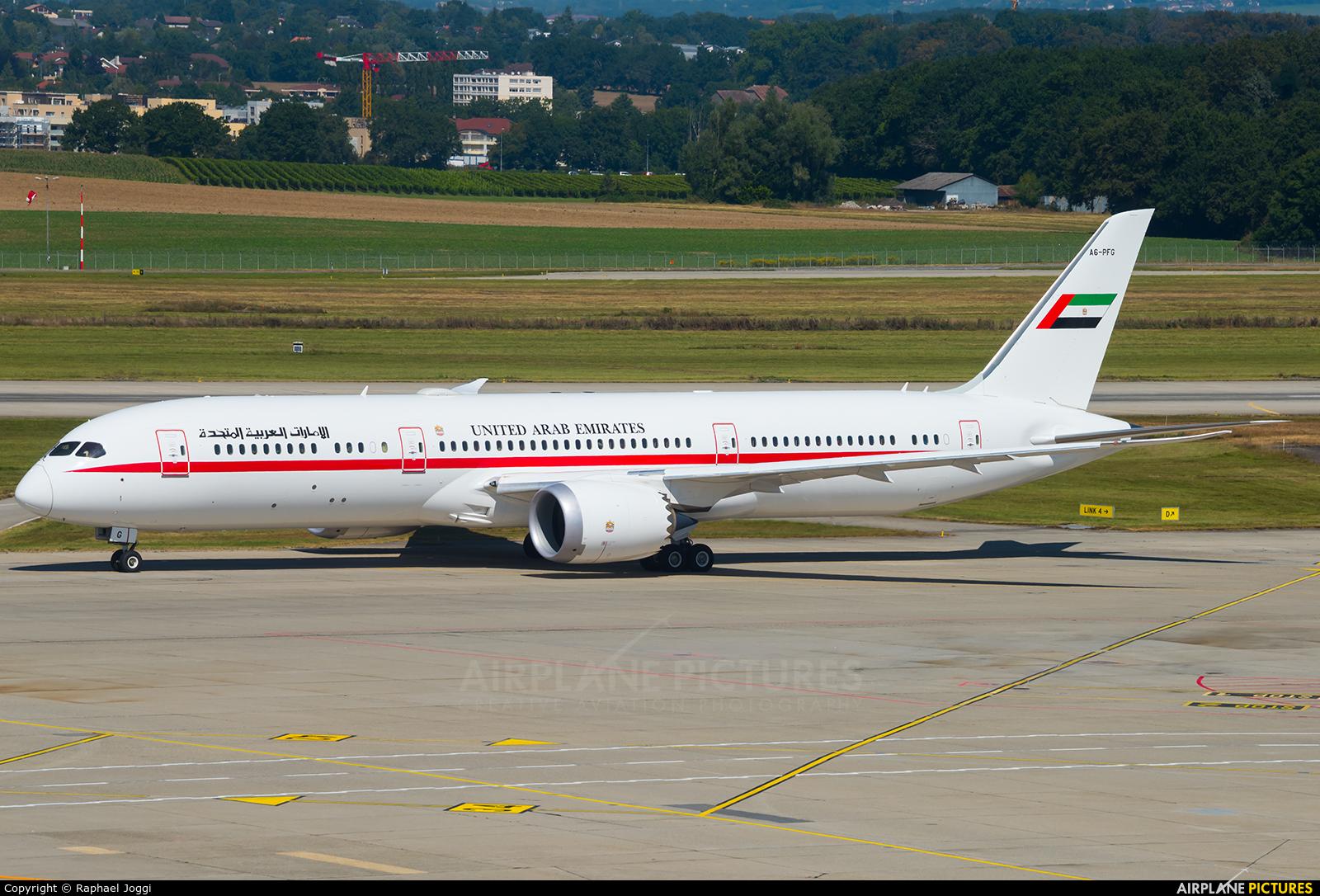 Abu Dhabi Amiri Flight A6-PFG aircraft at Geneva Intl