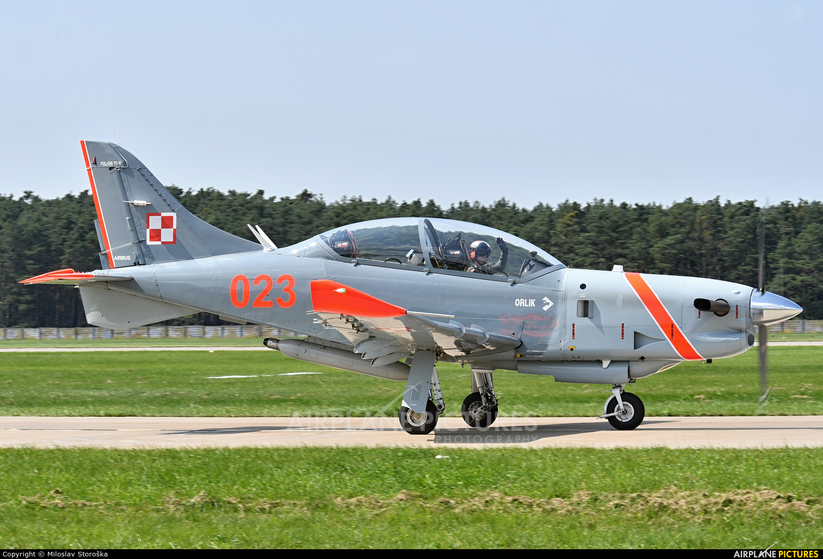 Poland - Air Force 023 aircraft at Malacky - Kuchyna