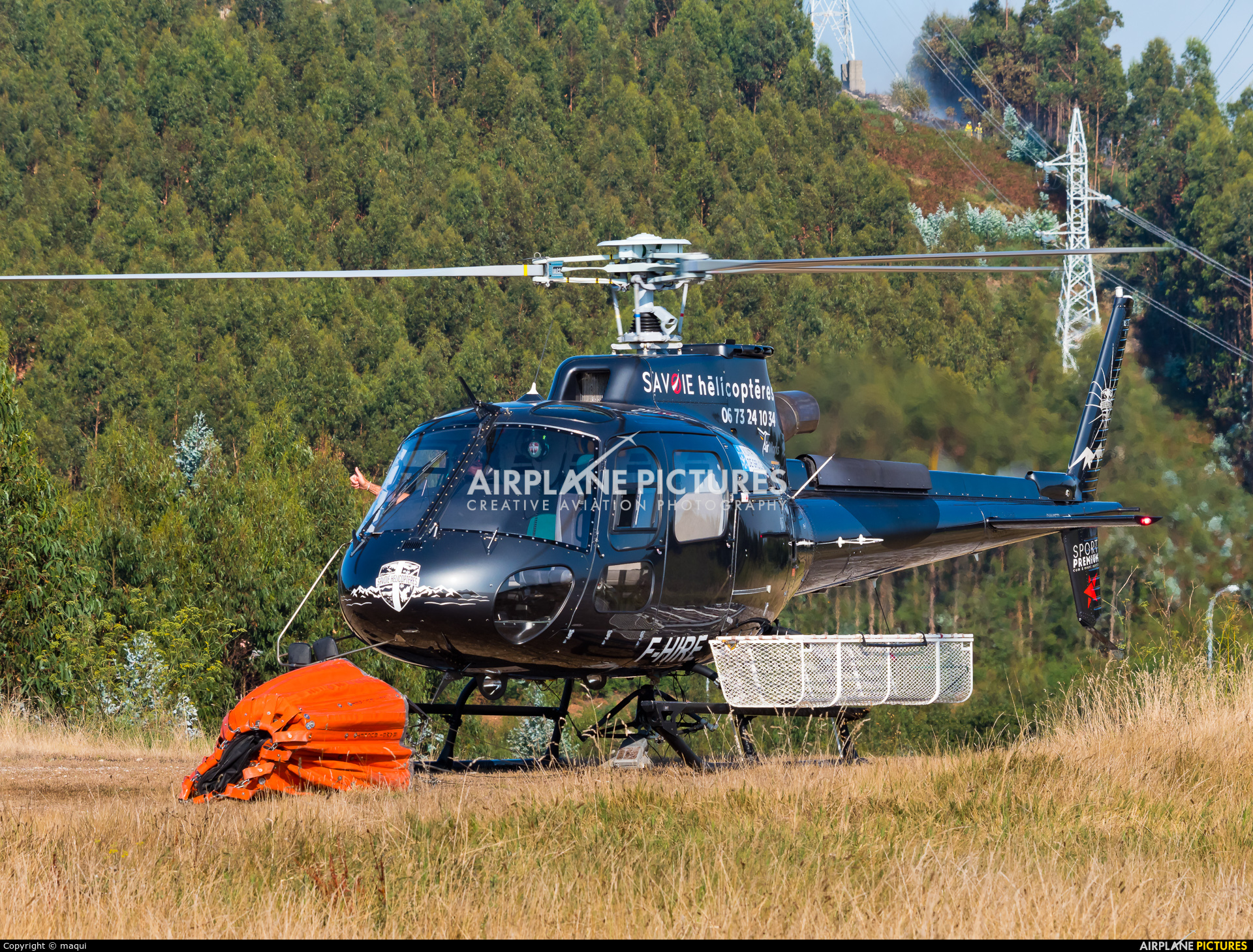 AirWorks Helicopters F-HIRE aircraft at La Coruña - Off Airport
