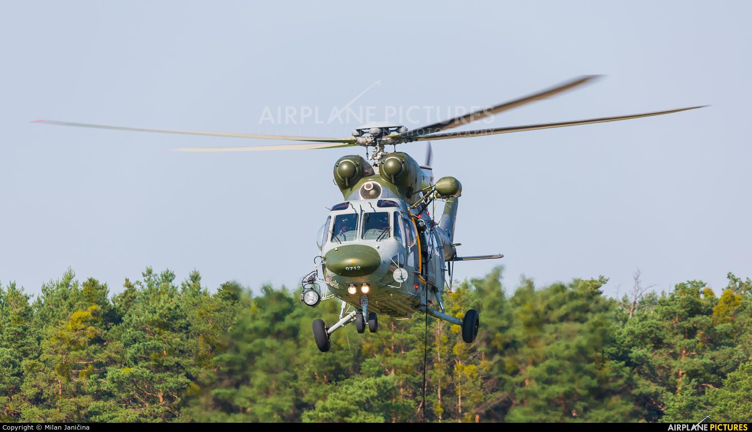 Czech - Air Force 0712 aircraft at Malacky - Kuchyna
